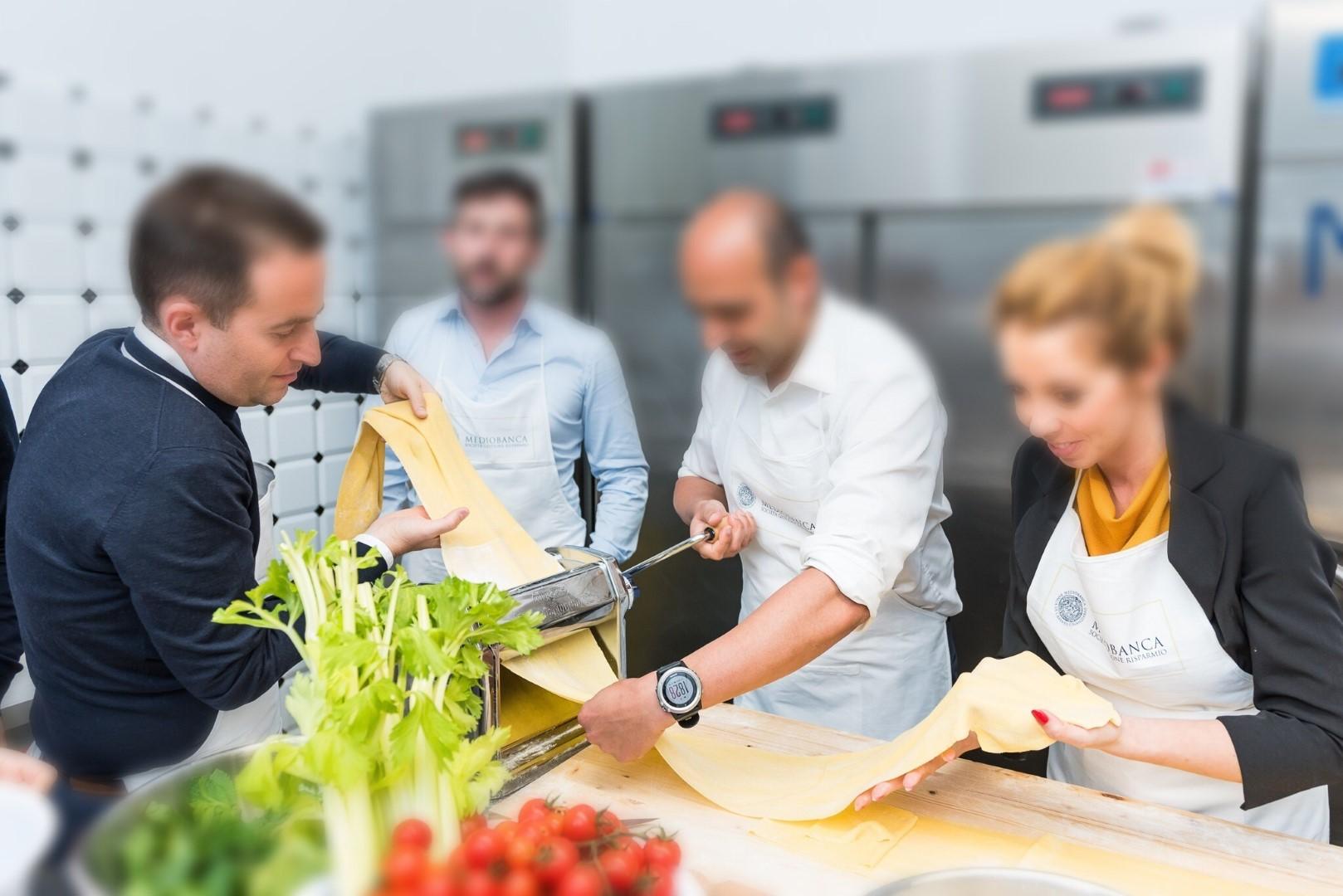 Cooking Team Building per Mediobanca SGR.