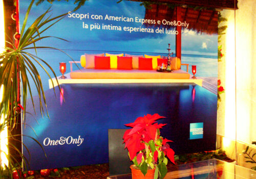 "One&Only 2007 – Roma – Campagna di co-branding adv ""One&Only/Amex""."