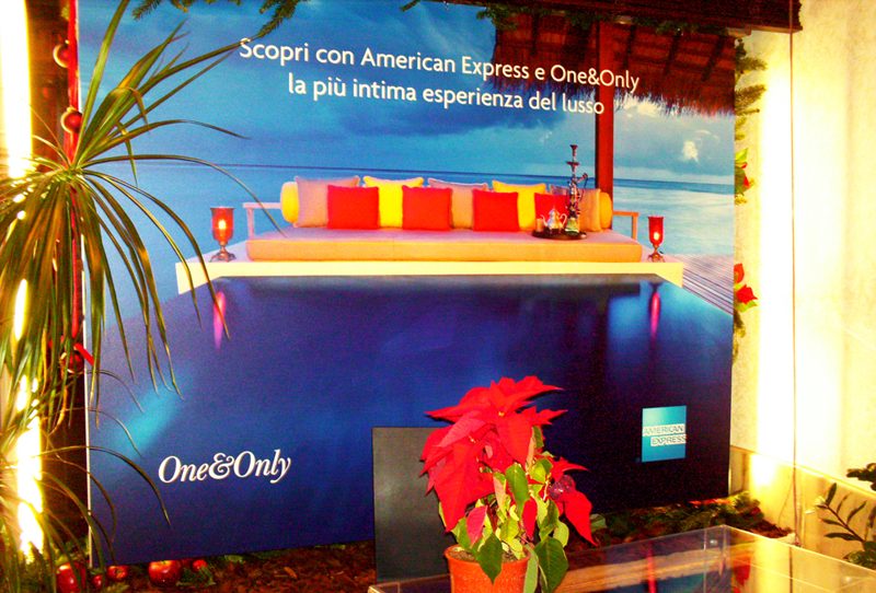 """One&Only 2007 – Roma – Campagna di co-branding adv """"One&Only/Amex""""."""