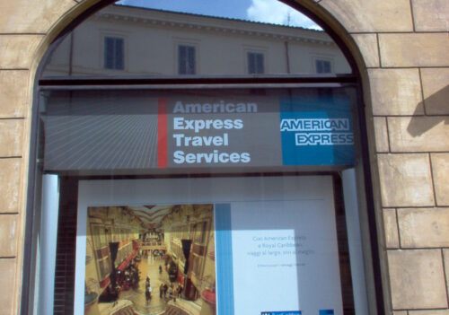 "Royal Carribean 2008 – Firenze – Campagna di co-branding adv ""Royal Carribean/Amex""."