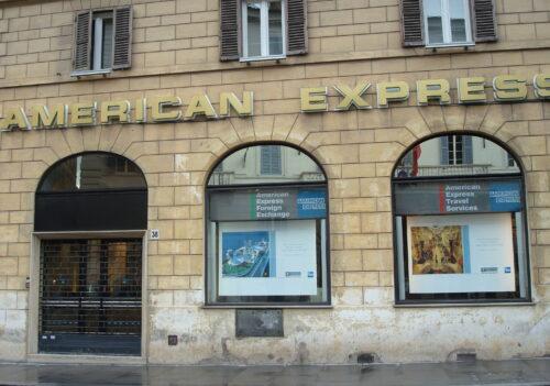 American Express 2007 / 2009 – Roma, Milano, Firenze,Venezia – Concessionari esclusivisti degli spazi adv e delle location Amex store.