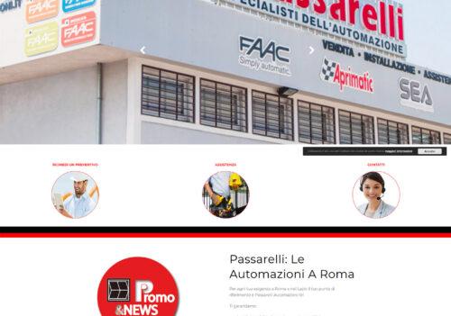 Il nuovo sito internet della Passarelli Automazioni.