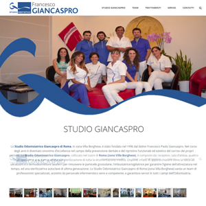 Online il sito dello Sudio Dentistico Giancaspro