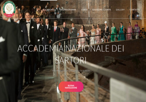 Nuovo sito online per l'Accademia Nazionale dei Sartori