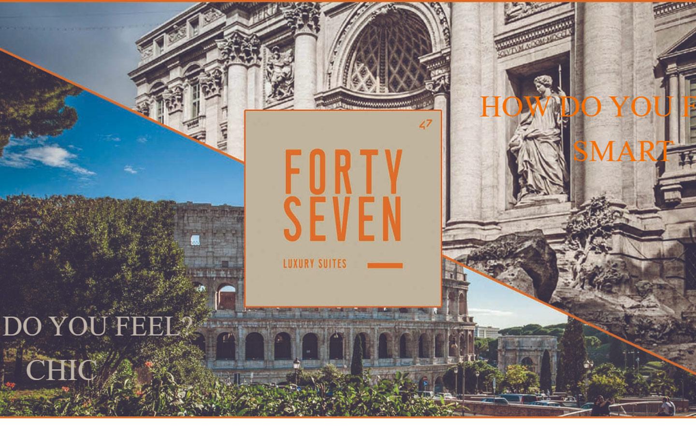 Pubblicazione del sito www.47luxurysuites.it del gruppo Fortysevenhotel.