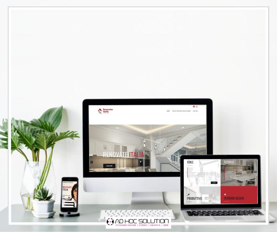 Un nuovo sito web firmato Ad Hoc Solution per Renovate Italia!